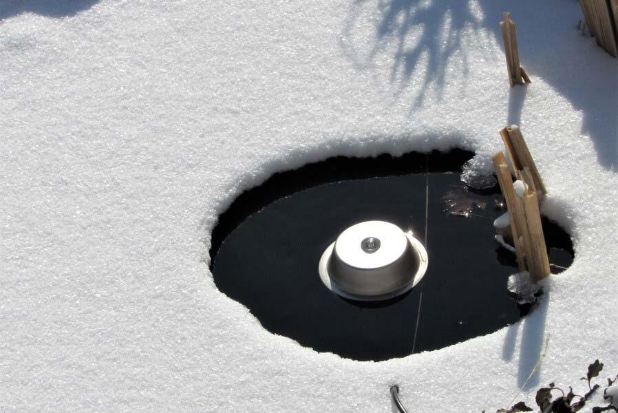 Electric pond de icer
